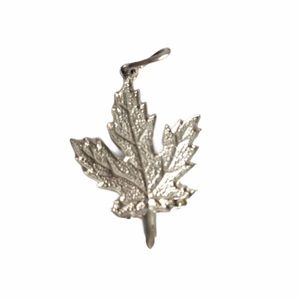 Vintage Maple Leaf Charm Canada Sterling Silver